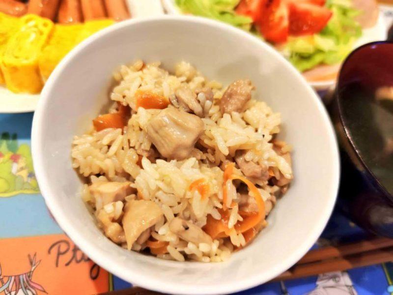 鶏肉の混ぜご飯