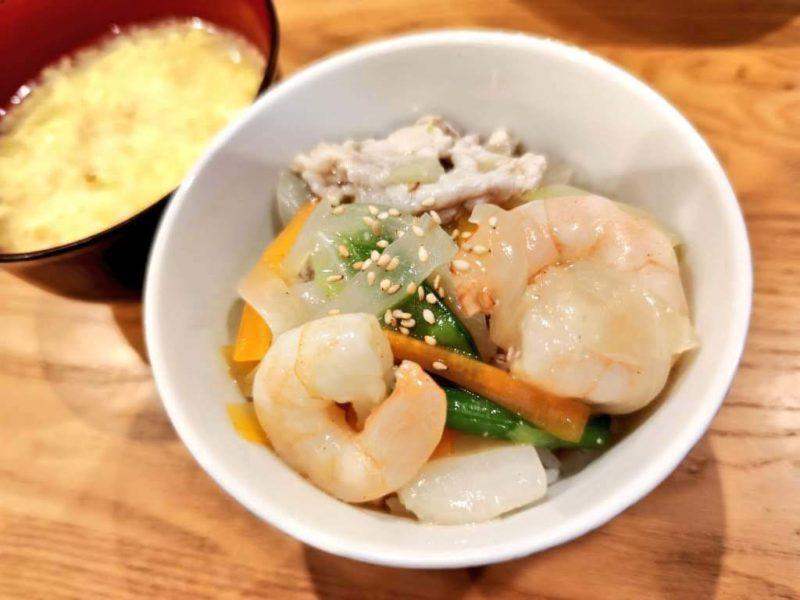 中華野菜あんかけ丼